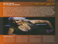 ČLÁNEK Z HARDROCKER 10/2008: DORO PESCH - 25 YEARS IN ROCK! - 1/8 str.