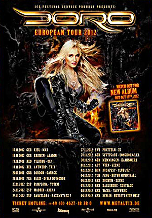 DORO - European Tour 2012