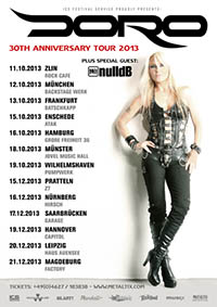 DORO - 30th anniversary tour 2013 - Masters Of Rock Café Zlin - 11.10.2013