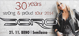 DORO - 30 years - Strong & Proud tour 2014